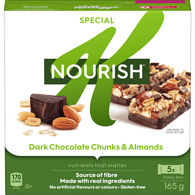 Nourish, Dark Chocolate Chunks & Almond