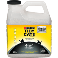 4-in-1 Strength Clumping Cat Litter for Multiple Cats