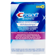 Crest 3D White Whitestrips Monthly Whitening Boost, 12 Treatments