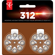 Hearing Aid Batteries, Size 312