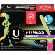 Tampons sport compacts Super 31 non parfumés avec applicateur en plastique