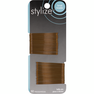 Stylize Curved Bobby Pin, Brown