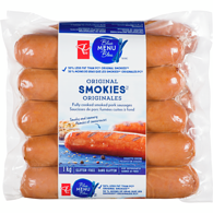 Saucisses Smokies originales Menu bleu