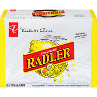 Lemonade Radler De-Alcoholized Lager Beer With Lemonade