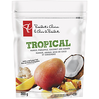 Tropical Mango, Pineapple, Coconut and Ginger Sweetened Dried Fruit Blend
