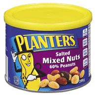 Mixed Nuts, 60% Peanuts, Roasted & Salted