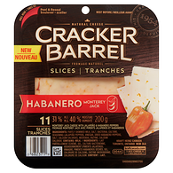 Cracker Barrel Monterey Jack Cheese with Jalapeño & Habanero Peppers, 31 % M.F