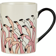 Tasse cylindrique, flamand rose