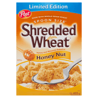 Shredded Wheat Spoon Size Honey Nut Cereal Limited Edition
