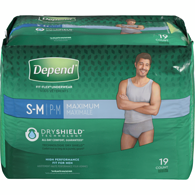 Fit-Flex Underwear for Men Maximum Absorbency S/M 19 Count