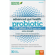 Advanced Gut Health Probiotic 50 Billion CFU Daily Care 30 Vegan Capsules