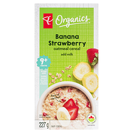 Banana Strawberry Oatmeal Cereal Add Milk 9+ Months Baby Cereal
