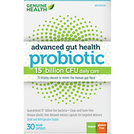 Advanced Gut Health Probiotic 15 Billion CFU Daily Care 30 Vegan Capsules
