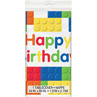 Plastic Tablecover, Building Blocks, Rectangular