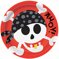 Pirate Fun 9'' Plates