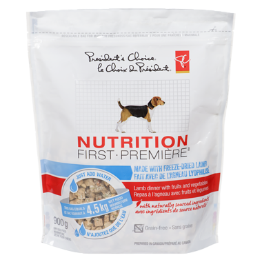 PC Nutrition First Made With Freeze-Dried Lamb - Lamb Dinner With Fruits And Vegetables