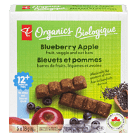 Blueberry Apple Fruit, Veggie And Oat Bar
