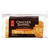 Cracker Barrel Natural Cheese Marble Cheddar Slices