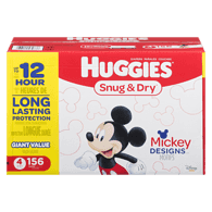 Snug  & Dry Diapers, Size 4 Club Pack