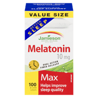 Sleep Support Melatonin 10 mg Value Size 100 Bi-Layer Caplets