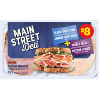 MainStreet Deli Smoked Black Forest Ham Smoked Seasoned Turkey Breast Variety Pack