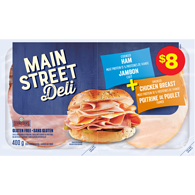 Mainstreet Deli Cooked Ham Smoked Chicken Breast Variety Pack
