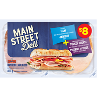 MainStreet Deli Cooked Ham Seasoned Smoked Turkey Breast Variety Pack