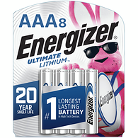 Ultimate Lithium AAA Batteries, 8 Pack