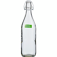 Coloured Glass Bottle, Clear