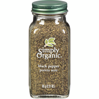 Organic Black Pepper, Medium Ground