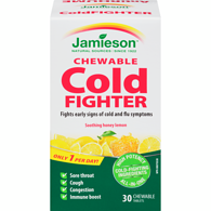 Natural Honey Lemon Chewable Cold Fighter 30 Chewable Tablets