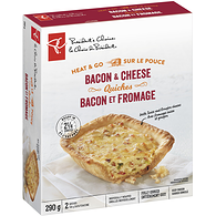 Quiches Bacon & Cheese 2 x (290 g)