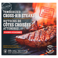 Cross-Rib Steaks Tenderized Seasoned