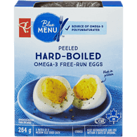 Free Run Omega-3 Hard-Boiled Peeled Eggs