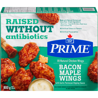 Prime Naturally Chicken Wings, Maple Bacon