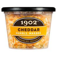 1902 Shredded Natural Cheese Cheddar Marble 31% M.F.
