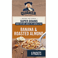 Instant Oats Hot Cereal,  Super Grains Banana & Roasted Almond
