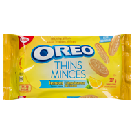 Oreo Thins Lemon Flavour Creme Sandwich Cookies