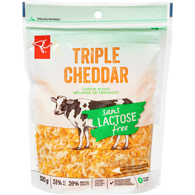 Lactose-Free Triple Cheddar Shredded Cheese Blend