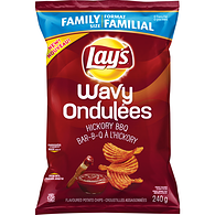 Wavy Potato Chips, Hickory BBQ