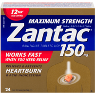 Maximum Strength Heartburn Treatment, 150 mg