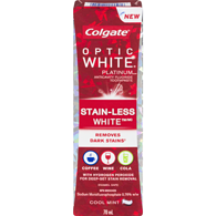 Optic White Platinum Stain-Less White Anticavity Fluoride Toothpaste Cool Mint