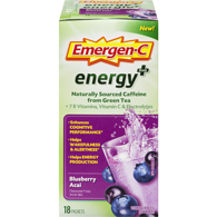 Energy Plus Flavoured Fizzy Drink Mix Blueberry Acai