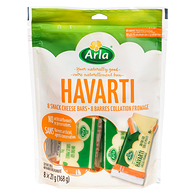 ArlaHavarti 33 % M.G. 8 Barres Collation Fromage x 21 g (168 g)