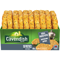 Cavendish Farms Classics Herb And Cracked Pepper Hash Brown Patties 10 Ct
