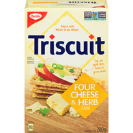 Triscuit Crackers, Four Cheese & Herb