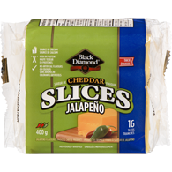 Jalapeño Flavoured Process Cheese Product Cheddar Flavour Thick 16 Slices