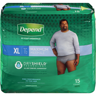 Underwear For Men, Max Absorption Extra Large