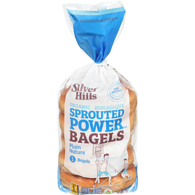 Sprouted Power Bagels Plain Organic 5 Bagels