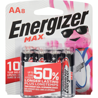 MAX Alkaline AA Batteries, 8 Pack